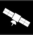 satellite white color icon vector image