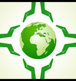 Save Nature concept with earth and hand- il vector image