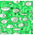 seamless pattern with underwater fishes vector image