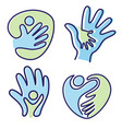 set pictogram icon people hand icon symbol vector image vector image