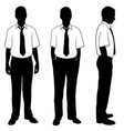 silhouettes of people posing in shirts vector image