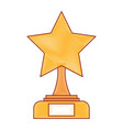 star trophy winner icon vector image