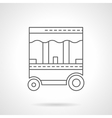 Street food trolley flat thin line icon vector image vector image