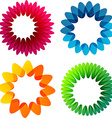 Summer colorful flower backgrounds vector image