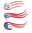 swirly usa colors set icon vector image