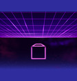synthwave retro sci-fi 80s 90s neon background vector image vector image