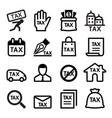 tax icon set vector image vector image