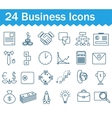 Thin line business icons set Outline icon vector image