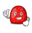 thumbs up gumdrop character cartoon style vector image vector image