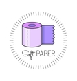 Toilet paper colored flat icon vector image