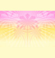tropical hazy background with palm trees and sun vector image vector image