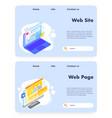 web site development website landing page vector image
