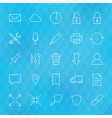 Website and Mobile User Interface Line Icons Set vector image