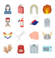 wedding atelier shopping and other web icon in vector image vector image