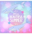 whales cosmo vector image