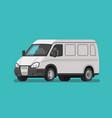 white bus service cargo delivery bus van truck vector image vector image