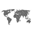 world map collage of small circles vector image