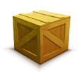 yellow wooden crate realistic icon isolated vector image