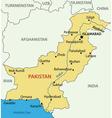 Islamic Republic of Pakistan - map vector image