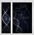 molecule banner image vector image