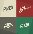 Pizza icons labels logos symbols vector image