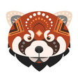 red panda head logo fire fox decorative vector image