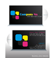 A card with a colorful fontstyle vector image vector image