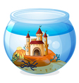 A castle inside a fishbowl vector | Price: 1 Credit (USD $1)