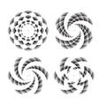 abstract circle symbols vector image vector image