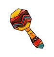 african maraca music instrument vector image vector image