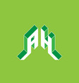 ah - monogram or logotype a and h - 2-letter code vector image