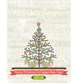 background with christmas tree and two squirrels vector image vector image