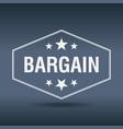 bargain hexagonal white vintage retro style label vector image vector image