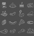 Black and white beer snacks vector image