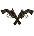 Black and White Crossed Gun - art vector image vector image