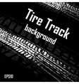 Black background with car track vector image vector image
