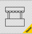 black line ticket box office icon isolated on vector image vector image