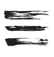 black paint brush strokes vector image vector image