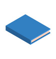 blue school new book icon isometric style vector image vector image