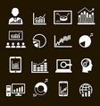 business analysis diagrams icons graphic vector image