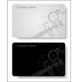 business card for the engineer vector image