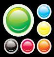 button lip vector image vector image