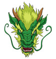 chinese dragon head green vector image vector image