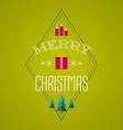 Christmas card with holiday icons Merry Christmas vector image