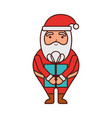 christmas happy santa claus with gift box holiday vector image vector image