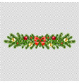 christmas wreath isolated transparent background vector image vector image