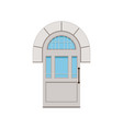 classic white arched front door to house closed vector image vector image
