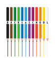 Coloring pencils vector image vector image