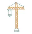 construction crane tower icon vector image