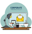 corporate related design vector image